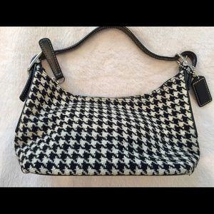 COACH Tweed Houndstooth Demi Bag